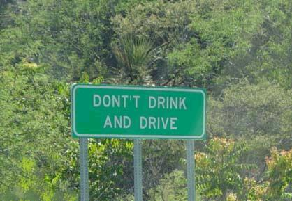 dontt drink and drive